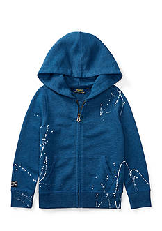 Ralph Lauren Childrenswear Paint-Splatter Full-Zip Hoodie Girls 4-6x