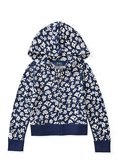 Ralph Lauren Childrenswear Floral Jersey Full-Zip Hoodie Girls 4-6x