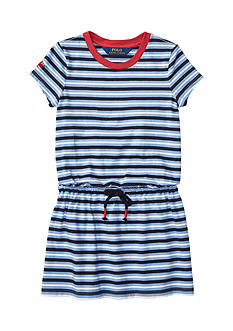 Ralph Lauren Childrenswear Stripe Cotton Jersey Tee Dress Girls 4-6x