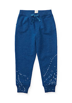 Ralph Lauren Childrenswear Paint-Splatter Jogger Pant Girls 4-6x