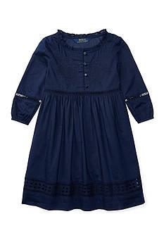 Ralph Lauren Childrenswear Eyelet Cotton Voile Dress Girls 4-6x