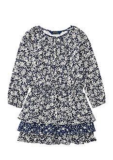 Ralph Lauren Childrenswear Floral Cotton-Blend Dress Girls 4-6x