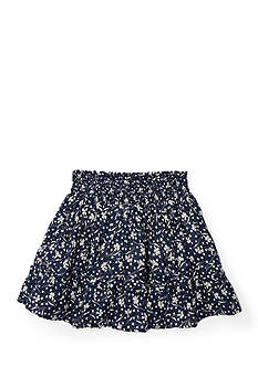 Ralph Lauren Childrenswear Floral Cotton Pull-On Skirt Girls 4-6x