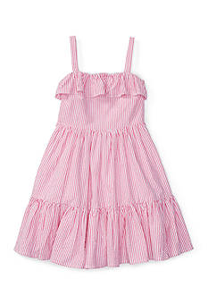 Ralph Lauren Childrenswear Seersucker Dress Girls 4-6x