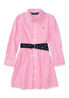 Ralph Lauren Childrenswear Bengal Stripe Shirtdress Girls 4-6x