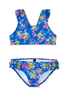 Ralph Lauren Childrenswear 2-Piece Floral Swim Suit Girls 4-6x