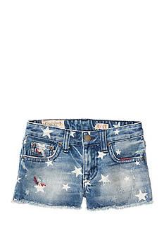 Ralph Lauren Childrenswear Star-Print Denim Shorts Girls 4-6x