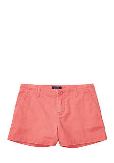 Ralph Lauren Childrenswear Washed Cotton Chino Shorts Girls 4-6x