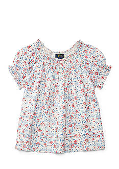 Ralph Lauren Childrenswear Smocked Floral Top Girls 4-6x