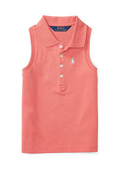 Ralph Lauren Childrenswear Stretch Sleeveless Polo Shirt Girls 4-6x