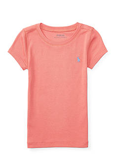 Ralph Lauren Childrenswear Pima Cotton–Blend Crewneck Tee Girls 4-6x