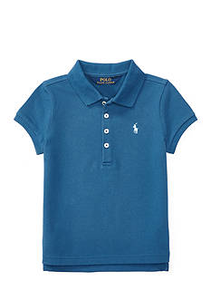 Ralph Lauren Childrenswear Stretch Mesh Short-Sleeve Polo Girls 4-6x
