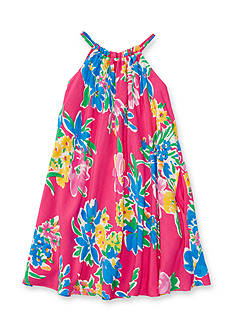 Ralph Lauren Childrenswear Floral Multi-Color Halter Dress Girls 4-6x