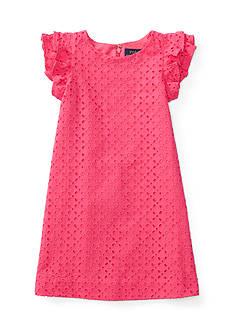 Ralph Lauren Childrenswear Eyelet Dress Girls 4-6x