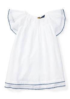 Ralph Lauren Childrenswear Gauze Tassel Dress Girls 4-6x