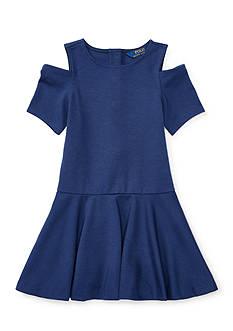 Ralph Lauren Childrenswear Ponte Solid Dress Girls 4-6x