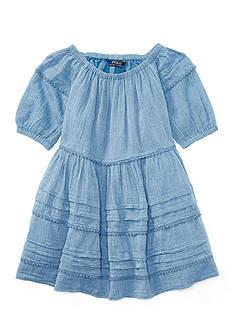 Ralph Lauren Childrenswear Chambray Gauze Dress Girls 4-6x