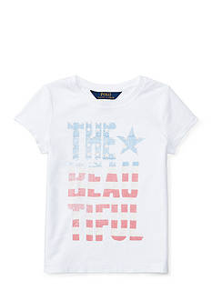 Ralph Lauren Childrenswear Cotton Jersey Graphic Tee Girls 4-6x