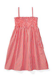 Ralph Lauren Childrenswear Striped Sleeveless Dress Girls 4-6x
