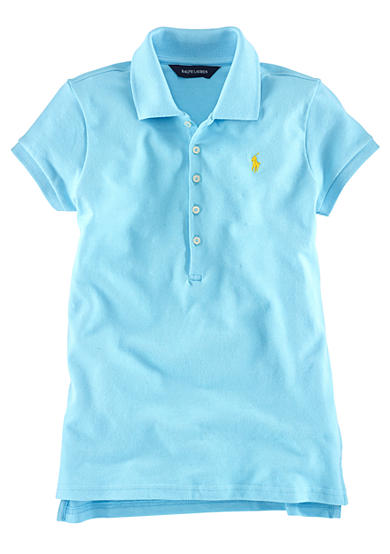 Ralph Lauren Childrenswear Mesh Polo with Pony Player Girls 7-16