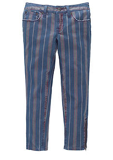 Ralph Lauren Childrenswear Striped Cropped Skinny Jeans Girls 7-16