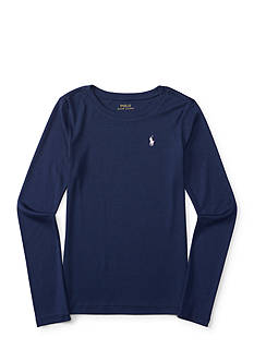 Ralph Lauren Childrenswear Long Sleeve Crew Neck Tee Girls 7-16