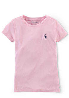 Ralph Lauren Childrenswear Pima Crew Neck Tee Shirt Girls 7-16