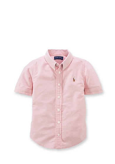 Ralph Lauren Childrenswear Short Sleeve Oxford  Shirt Girls 7-16