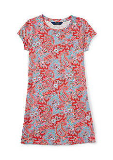 Ralph Lauren Childrenswear Jersey Paisley Dress Girls 7-16