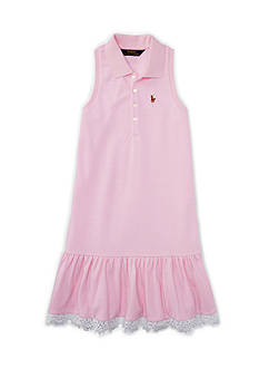 Ralph Lauren Childrenswear Oxford Mesh Dress Girls - 7-16
