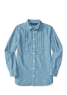 Ralph Lauren Childrenswear Chambray Shirt Girls 7-16