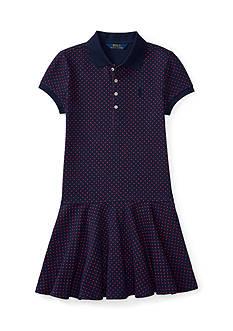 Ralph Lauren Childrenswear Polka Dot Polo Dress Girls 7-16