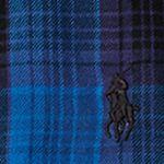 Ralph Lauren Girls: Blue/ Black Ralph Lauren Childrenswear Plaid Cotton Peplum Top Girls 7-16