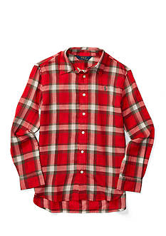 Ralph Lauren Childrenswear Plaid Cotton Twill Shirt Girls 7-16
