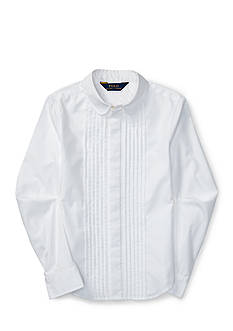 Ralph Lauren Childrenswear Pintucked Broadcloth Shirt Girls 7-16