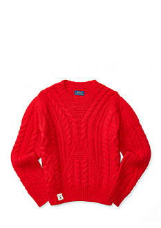 Ralph Lauren Childrenswear Cable Cotton-Blend Sweater Girls 7-16