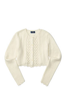 Ralph Lauren Childrenswear Cropped Pointelle Cardigan Girls 7-16