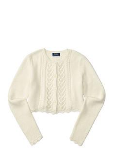 Ralph Lauren Childrenswear Cropped Pointelle Cardigan Girls 7-16