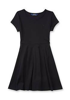 Ralph Lauren Childrenswear Fit-and-Flare Ponte Dress Girls 7-16