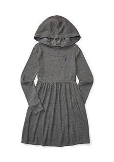 Ralph Lauren Childrenswear Waffle-Knit Hooded Dress Girls 7-16