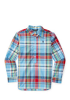 Ralph Lauren Childrenswear Plaid Poplin Popover Girls 7-16