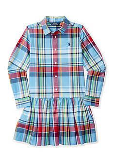 Ralph Lauren Childrenswear Plaid Poplin Shirt-Dress Girls 7-16