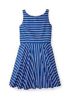 Ralph Lauren Childrenswear Striped Cotton Sateen Dress Girls 7-16