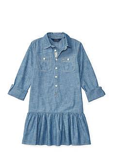 Ralph Lauren Childrenswear Chambray Solid Dress Girls 7-16
