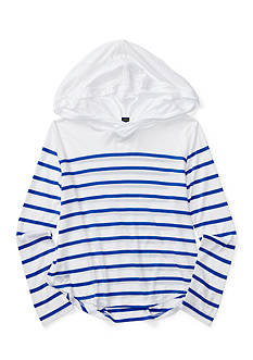 Ralph Lauren Childrenswear Striped Jersey Hooded Top Girls 7-16