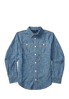 Ralph Lauren Childrenswear Cotton Chambray Shirt Girls 7-16
