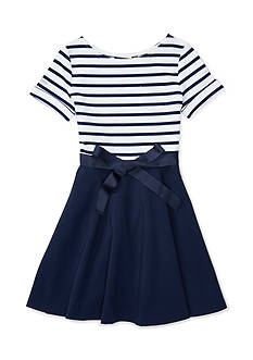 Ralph Lauren Childrenswear Striped Ponte Dress Girls 7-16