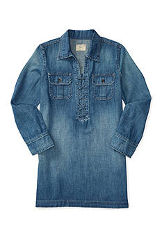 Ralph Lauren Childrenswear Lace-Up Denim Shirtdress Girls 7-16