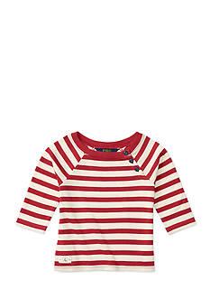 Ralph Lauren Childrenswear Striped Pima Boatneck Tee Girls 7-16