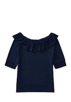 Ralph Lauren Childrenswear Ruffled Jersey Top Girls 7-16